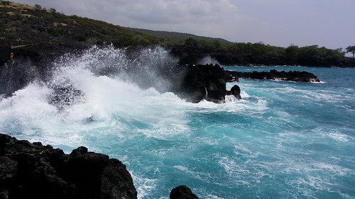 ocean blue trees sea mist seascape nature water clouds island hawaii polynesia bay coast marine scenery surf waves pacific shoreline rocky spray betty pacificocean shore foam tropical coastline bigisland aquatic hillside seashore kona theendoftheworld ecosystem kailuakona 2014 lavarock littoral konacoast hawaiicounty explored keauhou westhawaii northkona kuamoobay bettybowen bettyfackler