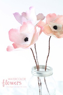 Watercolor Paper Flower DIY