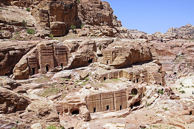 16 0395 - Jordanie, Petra, tombeaux