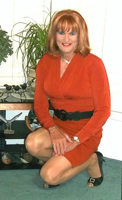 Orange Skirt n Blouse