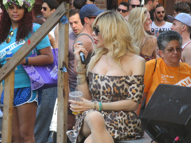 Dina Marie Delicious at NYC Pride / PrideFest on Hudson Street in New York City USA 2016
