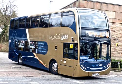 YN64 AOF 'Stagecoach Yorkshire' 15195 Scania N230UD / ADL Enviro 400 on 'Dennis Basfords' railsroadsrunways.blogspot.co.uk