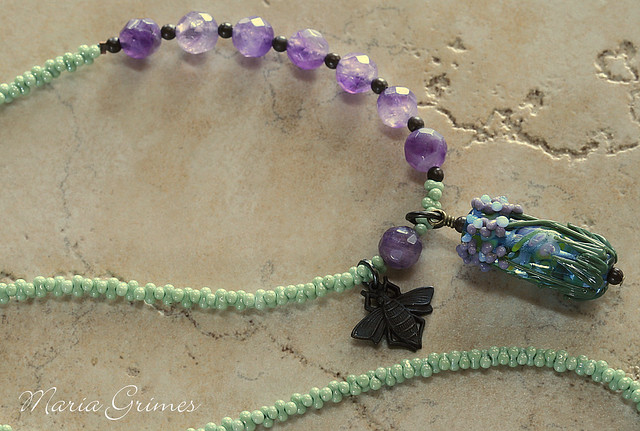 Lavender Bee Necklace