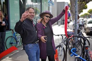 Main Street Bike Corrals Ceremony