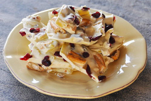 White Chocolate - Cranberry/Ginger Bark