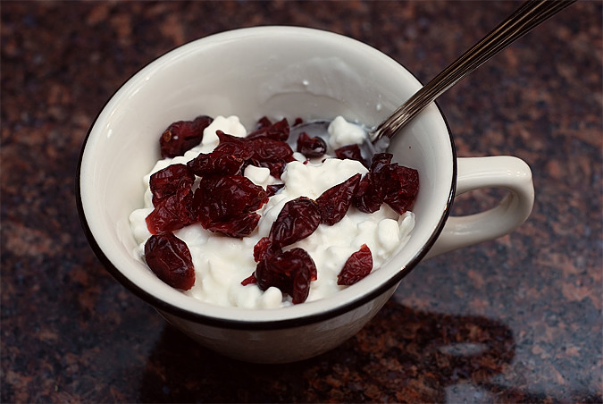 cottage cheese and craisins