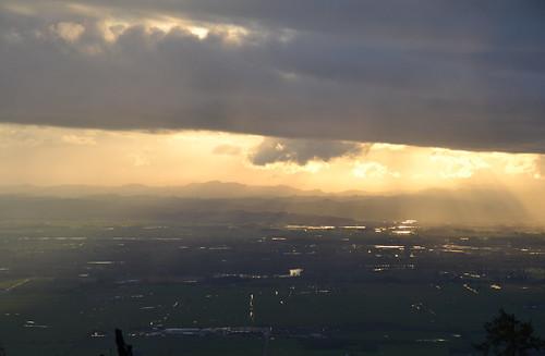 sunset clouds oregon plane nikon april d3100