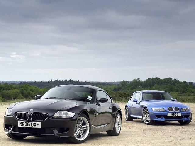 S54B32 BMW Z3 M Coupe | Estoril Blue | Estoril/Black | Z3 M Coupe and Z4 M Coupe Side by Side Comparison