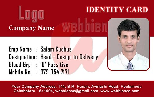 Custom Card Template  Company Id Cards Templates Free  Free Card