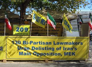 Sign at MEK protest