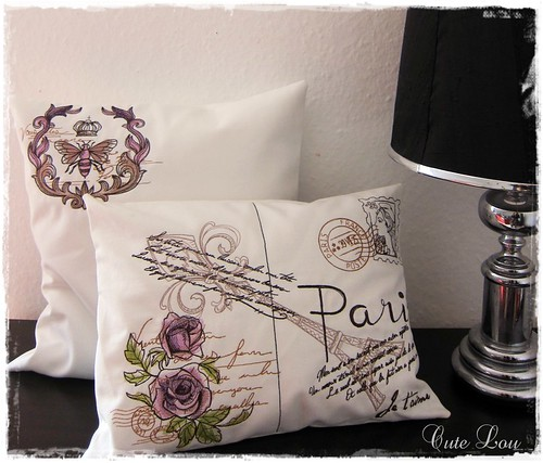 """Loveletters from Paris"" Pillow Set"