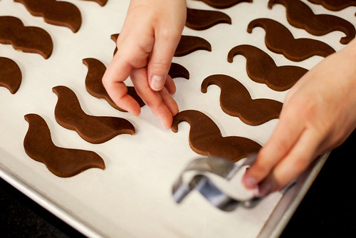 Making Moustache Cookies at Butter + Love. Photo by Donny.