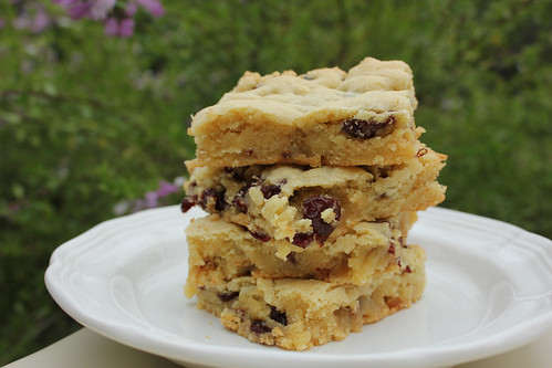 chewy cherry almond bars