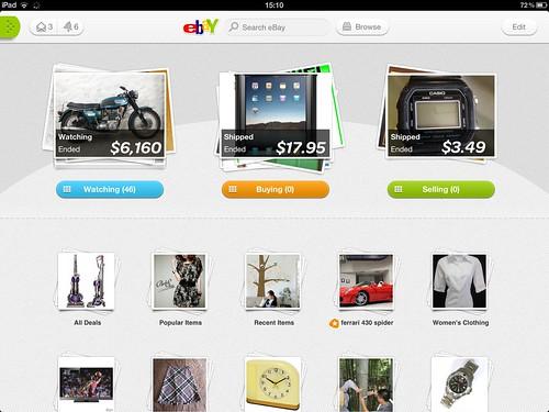 eBay iPad App 2.0 zoom