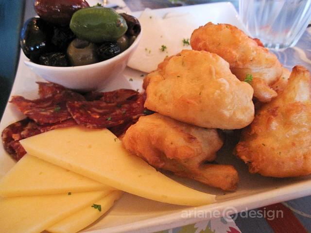 Italian olives, cavofiori fritti, artisan cheeses, salumi