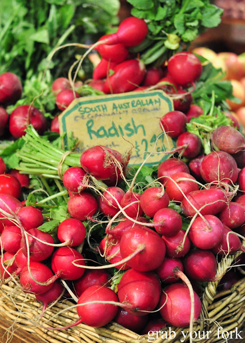 Radishes at Adelaide Central Market
