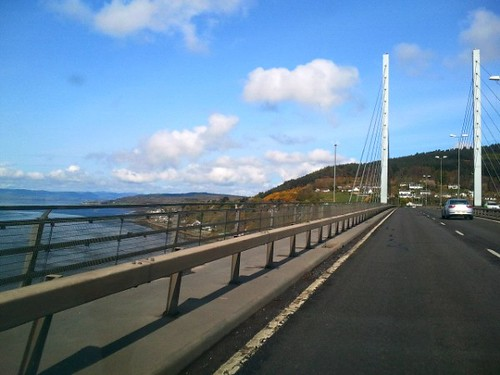 Crossing the Beauly Firth on the Kessoch Bridge