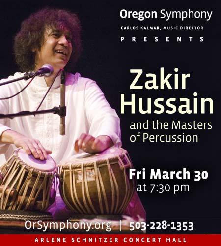 Zakir Hussain @ Oregon Symphony