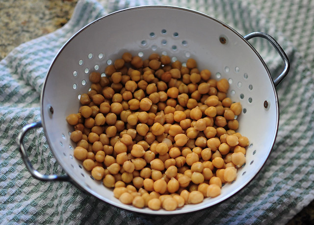 drained chickpeas