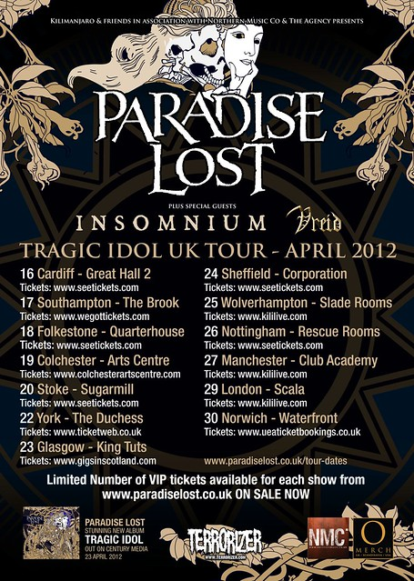 Paradise lost uk tour interview metalgigs metal gigs london hammerfest