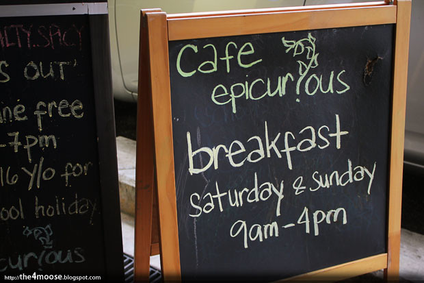 Cafe Epicurious - Blackboard