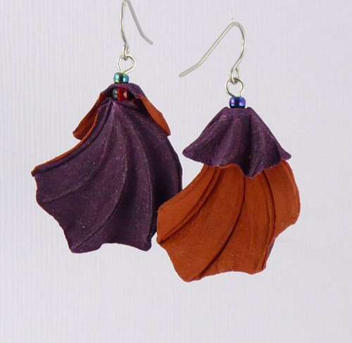 Paper Earrings - Plum Cape
