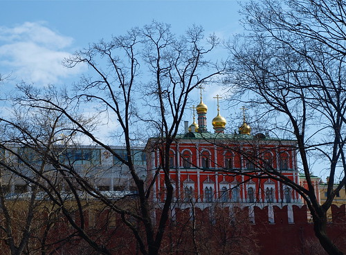 The walls of the Kremlin.