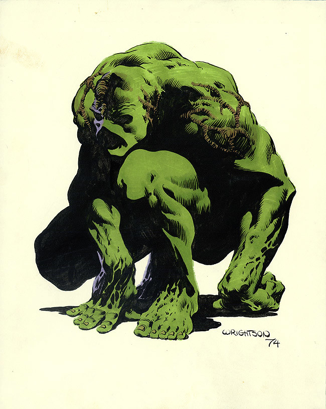 Swamp Thing by Berni Wrightson 1974 pinup