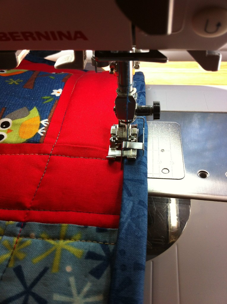 Machine Binding the the Edge Stitch Foot