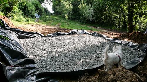 Installation septic tank