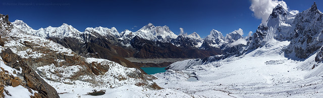 View of Himalayas from Renjo La Pass (5,345 m)