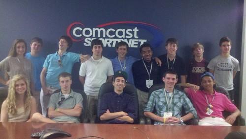 NSLC COMM Student Visit Comcast SportsNet
