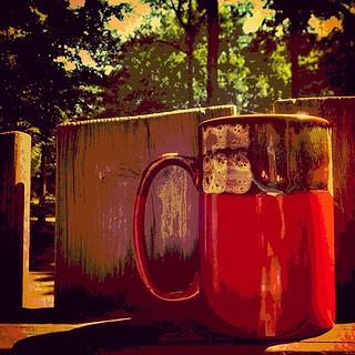 coffee cup morning sun