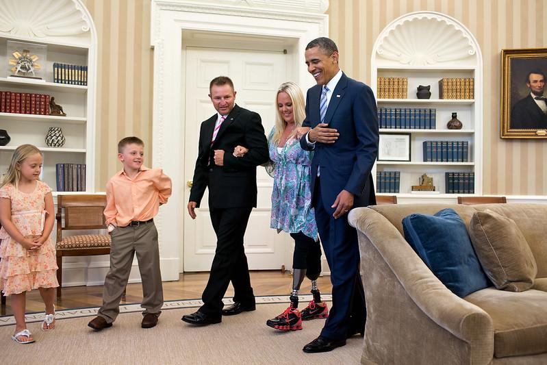president obama welcomes stephanie decker to the oval