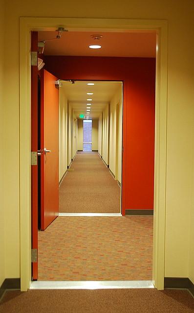 Vanishing Points Hallway Chloe Apartments Seattle Wa