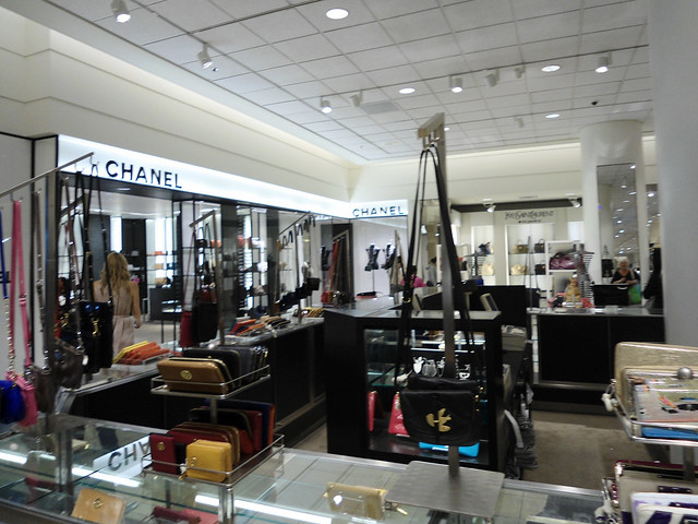 Nordstrom downtown Seattle- Chanel and Yves Saint Laurent accessories ...
