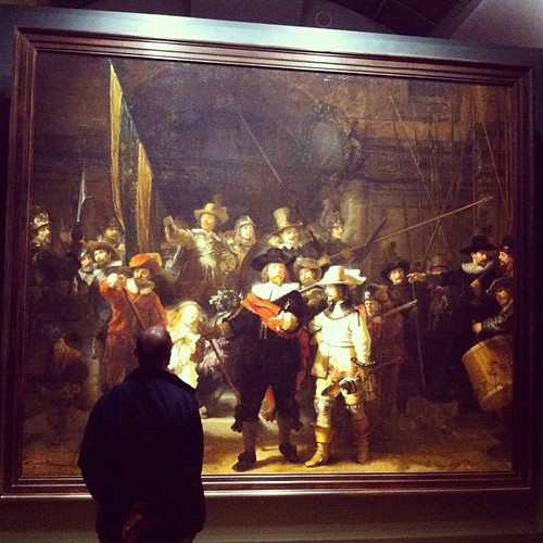 Today I was in the presence of two art Gods. Van Gogh and Rembrandt. This one is the original Night Watch. I can stay and look at his work for hours. #wow