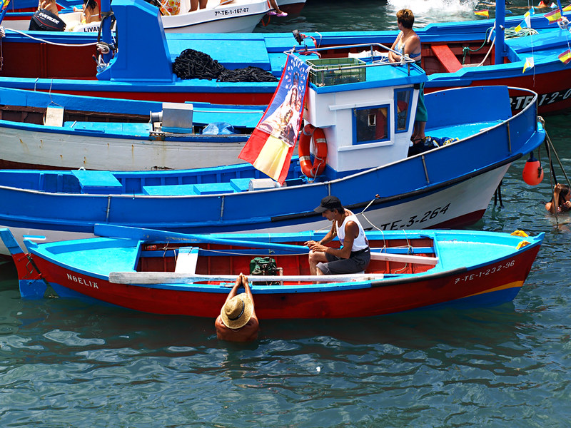 Fishing Boats in Puerto de la Cruz Harbour, Tenerife