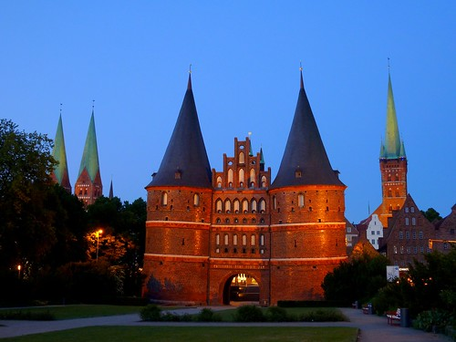The Holsten Gate in Lübeck, Germany