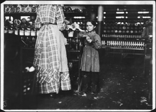Little Fannie, 7 years old, 48 inches high, helps sister in Elk Cotton Mill, November 1910