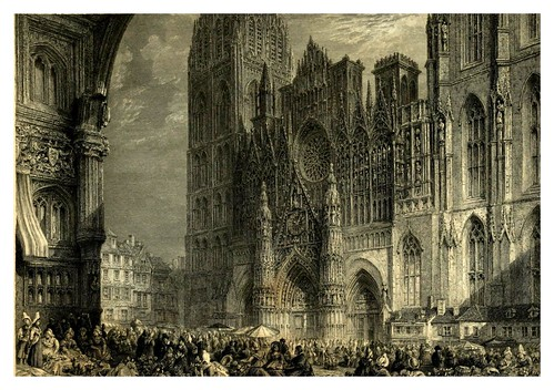 013- Catedral de Rouen-Wanderings by the Seine (1834)- Joseph Mallord William Turner