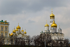 Cathédrales du Kremlin vues depuis la Moskova River