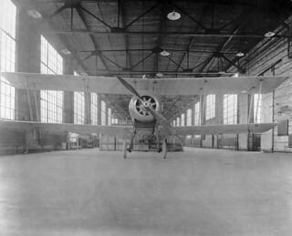 Avro aeroplane, front view. Canadian Aeroplanes Ltd., Toronto, Ontario, 1918