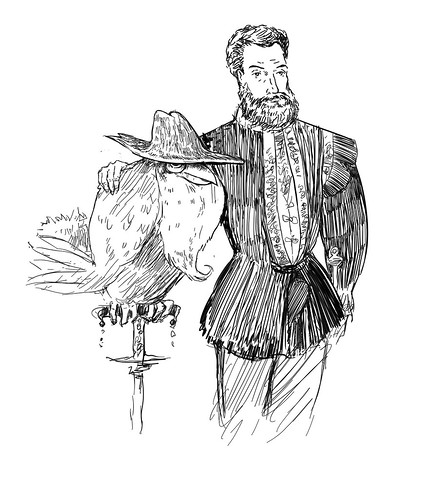 A portrait with the Honchkrow