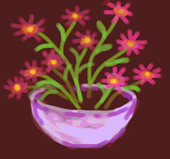 Crazy Daisies (Digital Sketch) by randubnick