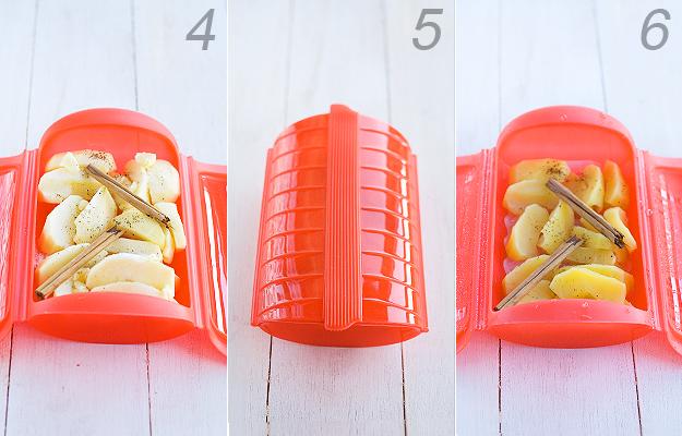 Manzana asada en microondas