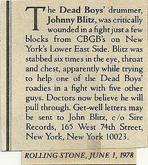 blitz benefit Rolling Stone