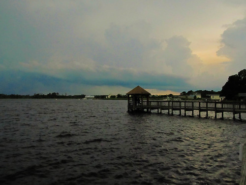nature water clouds dark interesting northcarolina gazebo peer jacksonvillenc wilsonbaygazebo