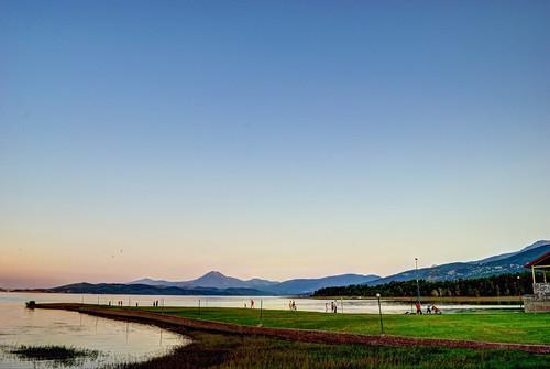 sunset lake greece plastira karditsa flickrandroidapp:filter=none