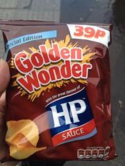 HP Sauce flavour crisps